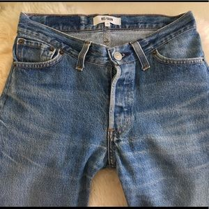 Redone re/done skinny straight jeans denim 23 mid